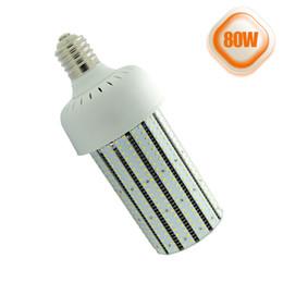 Wholesale Medium Base Led Light Bulbs - Corn cob LED light bulbs 80W E39 mogul base 6000K E26 medium base 100~277V warehouse high bay light cobra LED