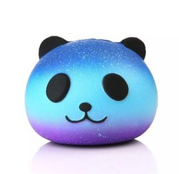 Wholesale Squishy Buns Mobile Charm - Cute Panda Squishy Soft Simulation Food Buns PU Cellphone Charm Mobile Phone Strap Squishies Kawaii Pendant Toys
