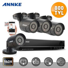 Wholesale Surveillance Cameras Indoor Bullet - ANNKE 8CH Channel HDMI 960H DVR CCTV 800TVL Home Surveillance Security Camera System for outdoor an indoor use