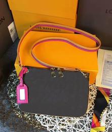 Wholesale Cell Phone Purse Strap - Famous Women shoulder bag Genuine Leather MESSENGER bag Cross Body Satchel GC#214 handbag pouch purse M44053 With Straps
