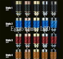 Wholesale Ego Drip Tips Flat - 2015 Stainless steel drip tis Carbon Fiber 510 Drip Tips Flat wide bore Drip Tips 510 Atomizer ego Mouthpieces Huge Vapor RDA Atty Drip Tips