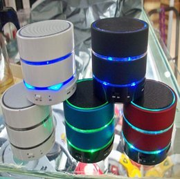 Wholesale Beatbox Portable Bluetooth Speaker - Factory Direct Selling Led Light beatbox S09 new Wireless Bluetooth Mini Speaker Phone with TF Card and MIC For iphone 6 5S  htc samsung S4