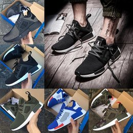 Wholesale Mens High Lace Boots - 2017 NMD XR1 boost MMJ Mens running shoes ultra boost ultraboost Camo Duck olive green high quality Women Sport Outdoor Sneakers Eur 36-45