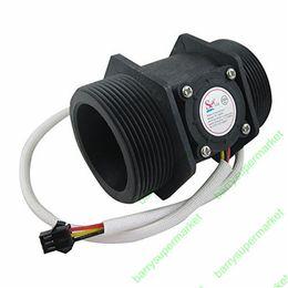 "Wholesale Water Flow Control Switch - Wholesale-G2"" 2 inch Water Flow Hall Sensor Switch Meter Flowmeter Control 10-200L min DN50"