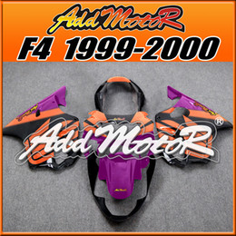Wholesale 99 Cbr F4 Fairings - In Stock Addmotor Injection Mold Fairings For Honda CBR600F4 CBR 600 F4 CBR 600F4 1999 2000 99 00 Body Kit Orange Purple H6049+5 Free Gifts
