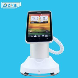 Wholesale Cell Phone Holder Alarm - Free Delivery Supermarket Shopping Mall ABS Aluminum Magnet Mobile Cell Phone Secure Display Stand Holder Alarm for Smartphone Exhibition
