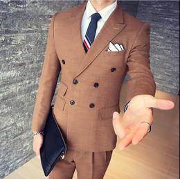 calças de veludo para homens preto Desconto 2017 preto veludo formal homens ternos noivo padrinhos smoking pico lapela casamento manhã ternos (jaqueta + calça + colete + gravata borboleta)