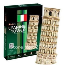 Wholesale 3d Puzzle Cubicfun - Wholesale-CubicFun 3D puzzle paper model DIY toy Italy Leaning Tower of Pisa New Edition educational creat decoration gift C706H