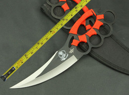 Wholesale Hiking Rope - Handmade All Steel Rope Handle Sharp Jungle Survival Fixed Hunting Knife VTH20
