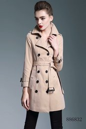 Wholesale Long Women British Coat - In the autumn of 2017, the new style of British style, the new kapok cotton double-breasted, has a slim waist and waist coat