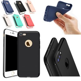 Wholesale Iphone 5s Cover Silicone - Soft Slim Silicone Defender Case For iPhone X 8 7 6 6s 5s Cover Candy Colors TPU Matte Phone Case Shell with Dust Cap