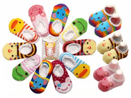 Wholesale Chevron Shoes - chevron tights Baby Childrens Socks Slippers Anti Non slip Cute baby socks shoes Wholesale and drop shipping