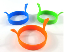 Wholesale Egg Moulds - Wholesale Kitchen Round Silicone Egg Fry Fried Oven Poacher Pancake Ring Mould Tool