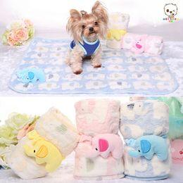 Wholesale Cartoon Blanket Cushion - Lovely Design cartoon Soft Warm Fleece Pet Blanket Dog Cat Mat Puppy Bed Sofa Cushion Cover Cozy Towel 60*70cm