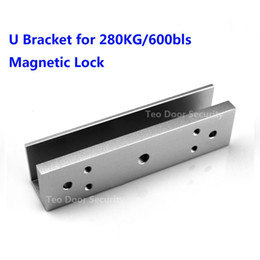 Wholesale Magnetic Lock Systems - 280KG 600Bls EM lock U Bracket for Magnetic Lock Door Entry System Frameless Glass Door Bracket