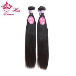 "Wholesale Malaysian Virgin Hair Weave 2pcs - Queen Hair Malaysian Virgin Hair Weft 8""-28"" 2pcs lot 100% Human Straight Hair DHL Free Shipping"