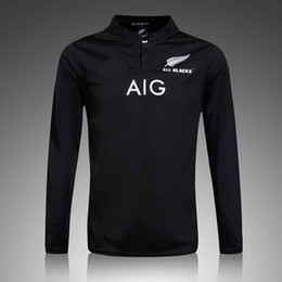 Wholesale Jersey Factory Price - long sleeve black rugby jersey correct version wholesale in stock Sublimate Camisetas factory wholesale price new zealand maori