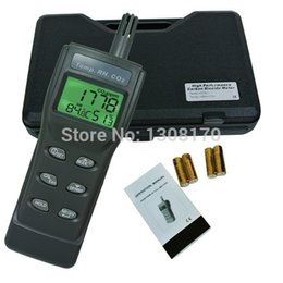 Wholesale Co2 Humidity Meter - Wholesale-3-in-1 Indoor Air Quality Monitor Carbon Dioxide CO2 Meter 9999ppm Temperature Humidity RH DP WBT Digital IAQ Tester
