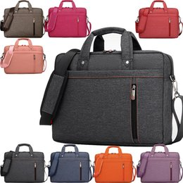 Wholesale Notebook Briefcase Women - New 15 Inch Waterproof Nylon Computer Laptop Notebook Bag Case Messenger Shoulder Bags for men women