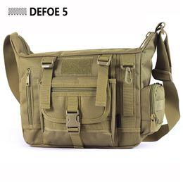 Wholesale School Bag Carrier - Wholesale-Large Men A4 14 Inch Laptop Shoulder School Bag Ultra-light Hunting Range Soldier Ultimate Stealth Heavy Duty Carrier