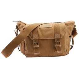 Wholesale Dslr Camera Canvas Messenger Bag - Fashion 2015 Men Vintage Canvas Shoulder Messenger Camera Bag for DSLR Nikon Sony # LY064 order<$18no tracking