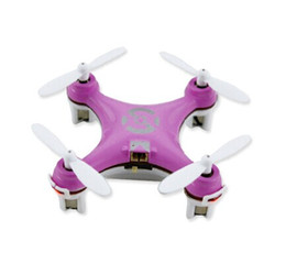 Wholesale Wholesale Electric Planes - CX-10 mini small four axis aircraft Four-channel six axis of gyroscope Remote control model airplane toy plane blink light DHL free