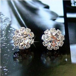 Wholesale Cheap Simulated Diamond Jewelry - popular sunflower women's cheap Stud Earring Simulated Diamonds Beautiful Jewelry many kinds of Crystal colorful Ear Rings
