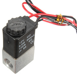 Wholesale 12v Pneumatic Solenoid - 2015 New 12V D C 2 Way Normally Closed Pneumatic Aluminum Electric Solenoid Air Gas Valve order<$18no track