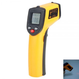 Wholesale Laser Guns Lcd - Temperature Meter Gun Point LCD Display Digital IR GM320 Non-Contact Laser Infrared -50~330 Degree Thermometer 2 x AAA batteries