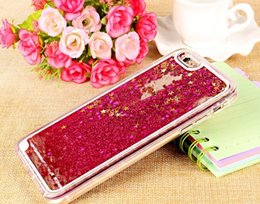 Wholesale S4 Liquid - Bling Stars Glitter Liquid Star Hard Clear cover case cases For Samsung Galaxy S4 S5 S6 edge Plus S7 Note4 Note5