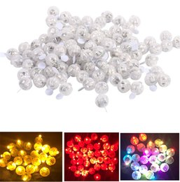 Wholesale Round Paper Lantern Lamps - Round Shape Ballon Lamp Light up Mini LED Ball for Balloon Paper Lantern Wedding Christmas Party Xmas Decor