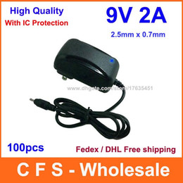 Wholesale 9v Charger For Android Tablet - DC 9V 2A AC Adapter For MID Google Android Tablet PC Power Supply Charger 2.5mm Fedex   DHL free shipipng 100pcs