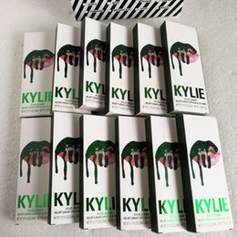 Wholesale Yellow Gloss - 2017 NEW Kylie Jenner lip kit Makeup take vacation&holiday Lipstick Matte Lip Gloss Kit by kylie cosmetics Lipstick with Lip Liner Pencil