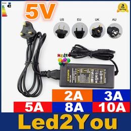 Wholesale Ac Dc Adapter 5v 5a - Wholesale-EU US UK AU Power Supply Adapter Led Transformer AC 110-240V to DC 5V 2A 3A 5A 8A 10A Led Strip Light Driver