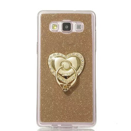 Wholesale Chinese Finger Rings - Diamond Finger Ring Grip Stand Bling Glitter Sparkle Soft TPU Case For Samsung Galaxy A3 A5 A7 A8 Huawei Ascend P7 P8 Lite Mini cover 10pcs