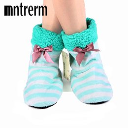 Wholesale Best Beach Shoes - Mntrerm 2017 Home Soft Plush Home Shoes Slippers Cora Plush Indoor Floor Sock Indoor Slipper Winter Foot Warmer Best 8 Color