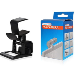 Wholesale Retail Clamps - Mini Adjustable TV Clip Monitor Mount Plastic Holder Stand Clamp For Playstation PS 4 PS4 Eye Motion Camera Clip Holder Retail Box Q2