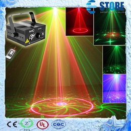 Wholesale Laser Lights Lens - 3 Lens 24 Patterns Club Bar RG Laser BLUE LED Stage Lighting DJ Home Party 300mw show Professional Projector Light Disco, M