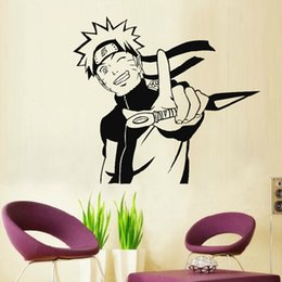 Wholesale Wall Stickers Naruto - Onlinegame Anime Cute Naruto Profile Home Decor Children's Present Christmas Birthday Gift Wall Sticker Decal