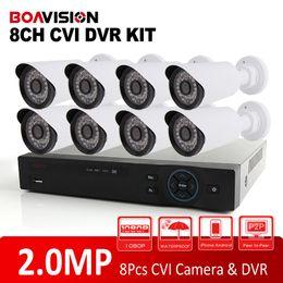 Wholesale Dvr 8ch 8pcs - Analog High Definition Dahua Solution HD CVI System 8CH 1080P CVR Supports 2.0MP 8Pcs Bullet CVI Camera IR 20m CCTV HDCVI DVR Kit