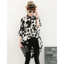 Wholesale Casual Chiffon Blouse Tops - Top Selling Womens Clothes Ladies Blouses Casual Batwing Sleeve Print Shirt Blusa Chiffon Loose Long Shirt Feminine Blouses SJM