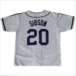 Wholesale Down Xxl - 30 Teams- Josh GIBSON #20 Homestead Grays Negro League Button Down Jersey Grey Men's Double Embroidery and Stitched Baseball Jerseys