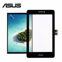 Wholesale glass digitizer replacement asus - Wholesale- For Asus Fonepad 7 ME175 ME175CG Black Digitizer Touch Screen Glass Sensor + LCD Display Panel Screen Monitor Replacement