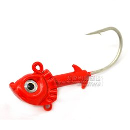Wholesale Red Head Lures - fishing hook anzol de pesca good quality 23g 25g two size red fish lure hook 2015 hot sell Jig head easy to fish peche