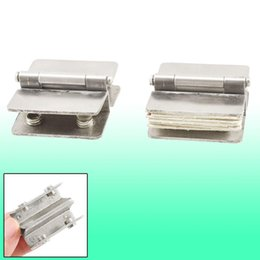 Wholesale Shower Clamps Hinges - Hardware Glass to Glass Door Double Clamp Shower Hinges 2 Pcs