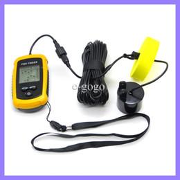 Wholesale New Sonar Fish Finder - New Wired Portable Sonar Sensor Fish Finder Alarm 0.6-100M Depth Capturing Transducer Waterproof