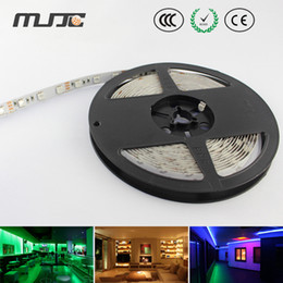 Wholesale Led Lights For Cars 24v - 12V 24V flexible car strip led Tape Light Nonwaterproof rgb 5050 60LEDs M for car display wedding party hotel decor