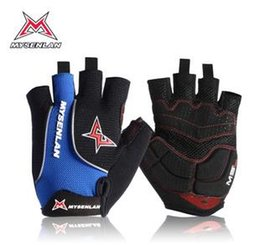 Wholesale Mysenlan Cycling - Wholesale-MYSENLAN mtb bike bicycle cycling gloves half finger guantes ciclismo bicicleta glove bycicle accessories S M XL