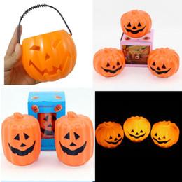 éclairage de nuit des escaliers Promotion LED Halloween Pumpkin Lights Lampe plastique creuse grand godet de citrouille LED LIGHTS Décoration Ballons Lampes pour enfants