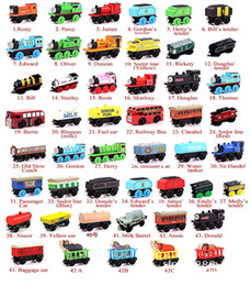 Wholesale Small Cars Kids - Wooden Small Trains Cartoon Toys 70 Styles kids wooden Toys Trains Friends Wooden Trains Car Toys